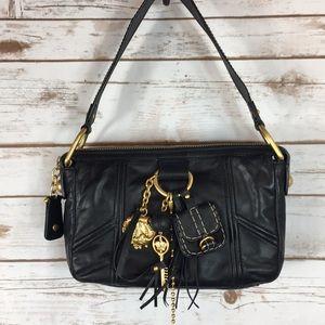 JUICE COUTURE NEW Black Leather Shoulder Bag